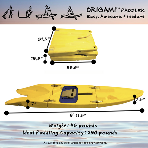Origami Paddler Measurements and Weight Information