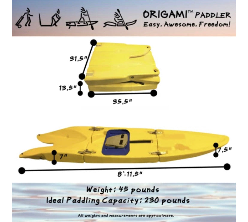 4 Origami Paddlers (pre-order pricing · shipping March 2021)