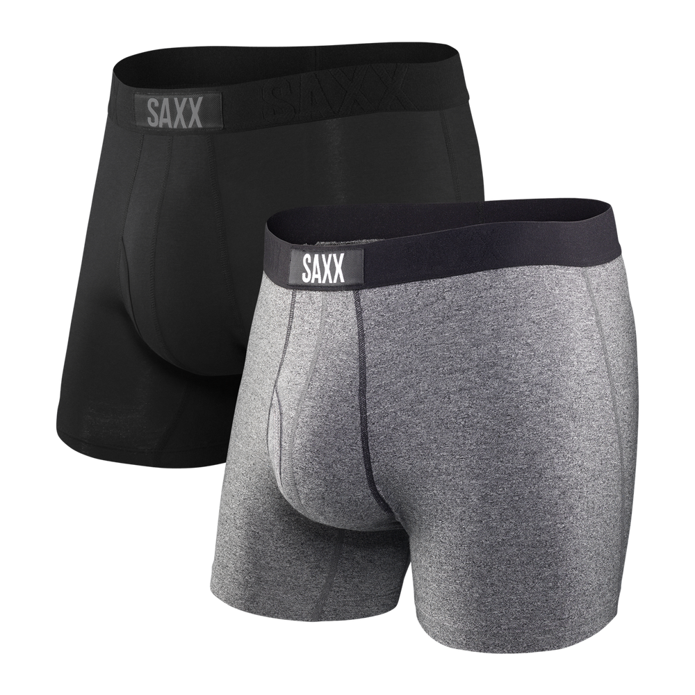 SAXX ULTRA 2-PACK Boxer Brief / Black/Grey