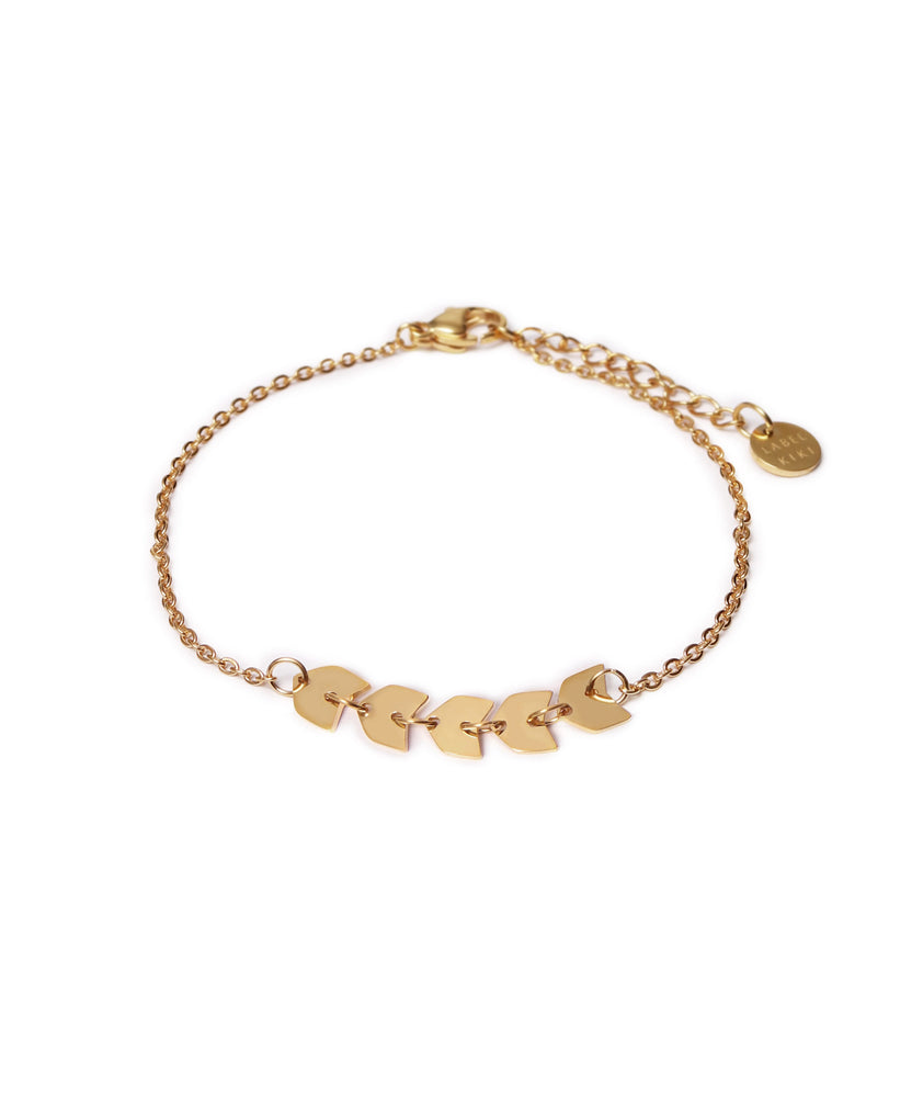 Fishbone Bracelet - Gold