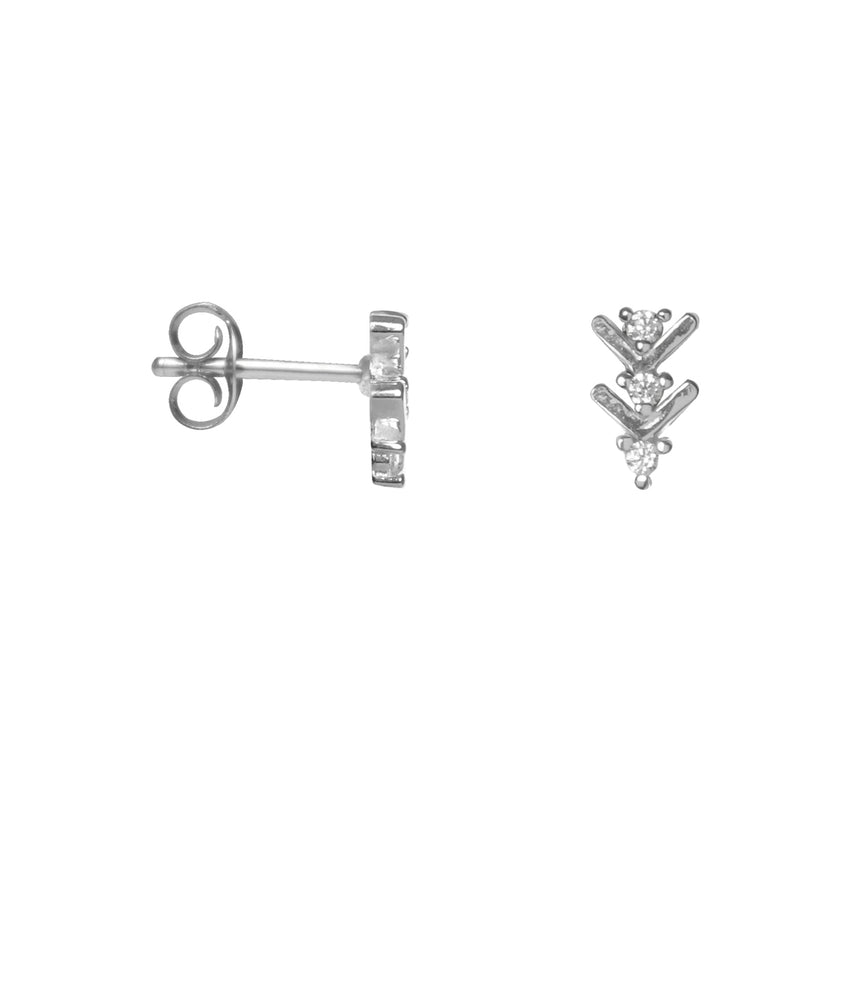 Shiny Arrow Studs - Silver