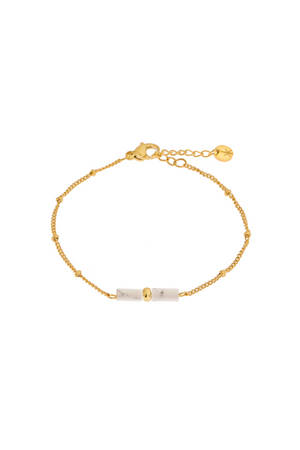 Load image into Gallery viewer, Marble Tube Bracelet - Gold