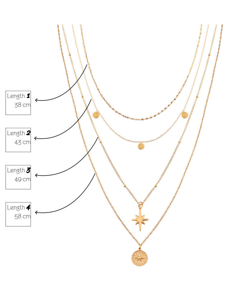 Load image into Gallery viewer, Triple Eye Necklace - Gold