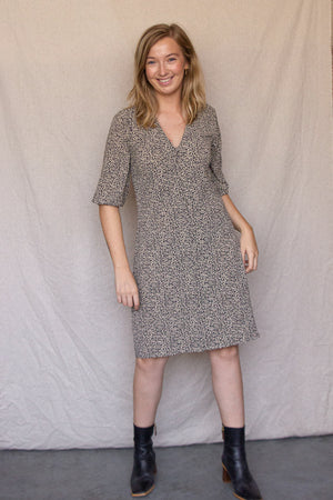 Load image into Gallery viewer, Emily Print Dress - Leo Dot