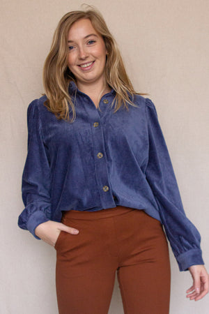 Load image into Gallery viewer, Freya Shirt - Vintage Blue