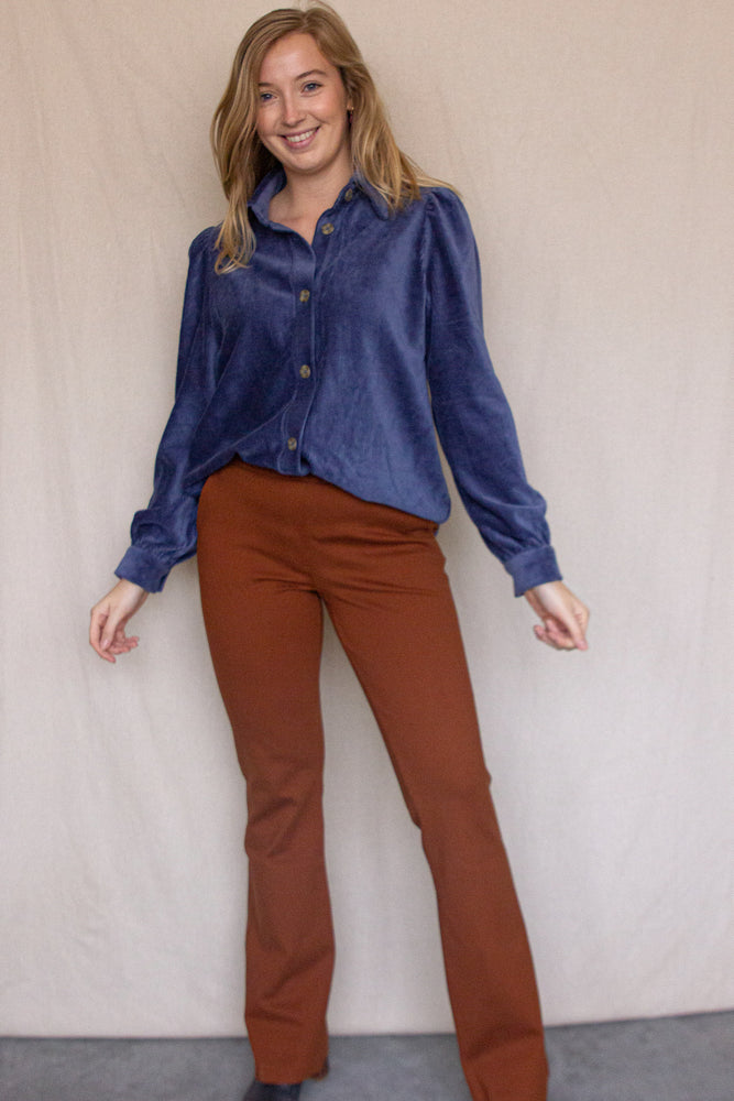 Tanny Flare Pants - Mocha Bisque