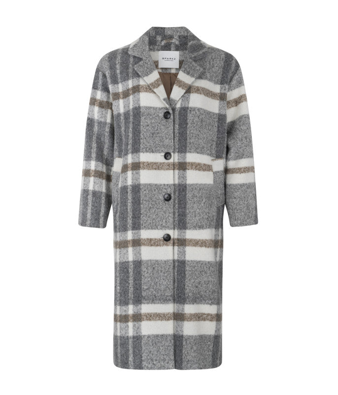 Krokus Coat - Grey Melange