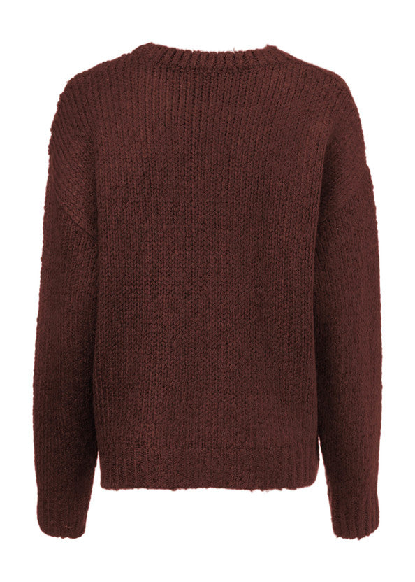 Load image into Gallery viewer, Valentia o-neck Knitwear - Mocha Bisque