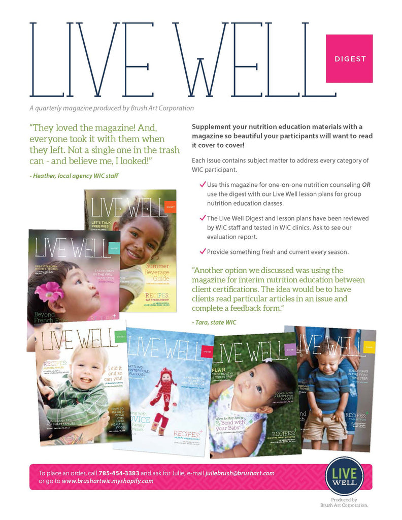 ITCA WIC - 2,000 Copies of Live Well Digest