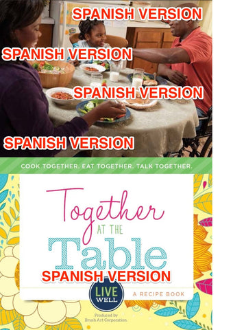 Recipe Book: Together at the Table (Spanish) - Sold in Packs of 25