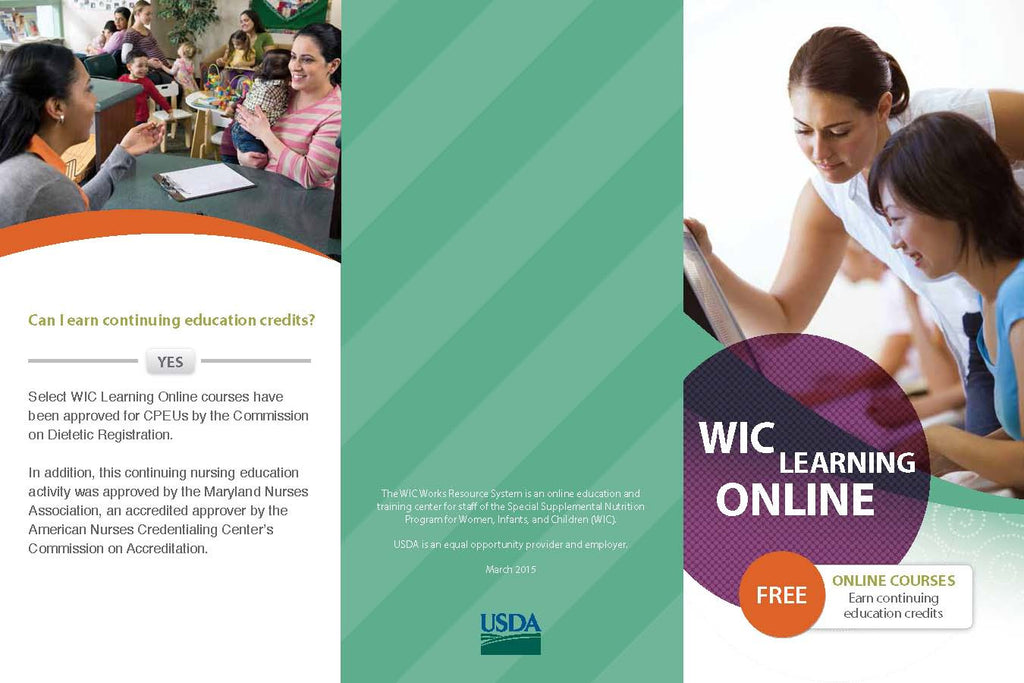 Job# 63129 - USDA WIC WORKS LEARNING ONLINE BROCHURE