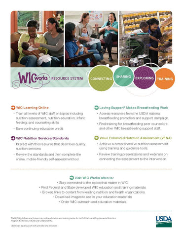 Job# 63128 - USDA WIC Works Promotional Brochure