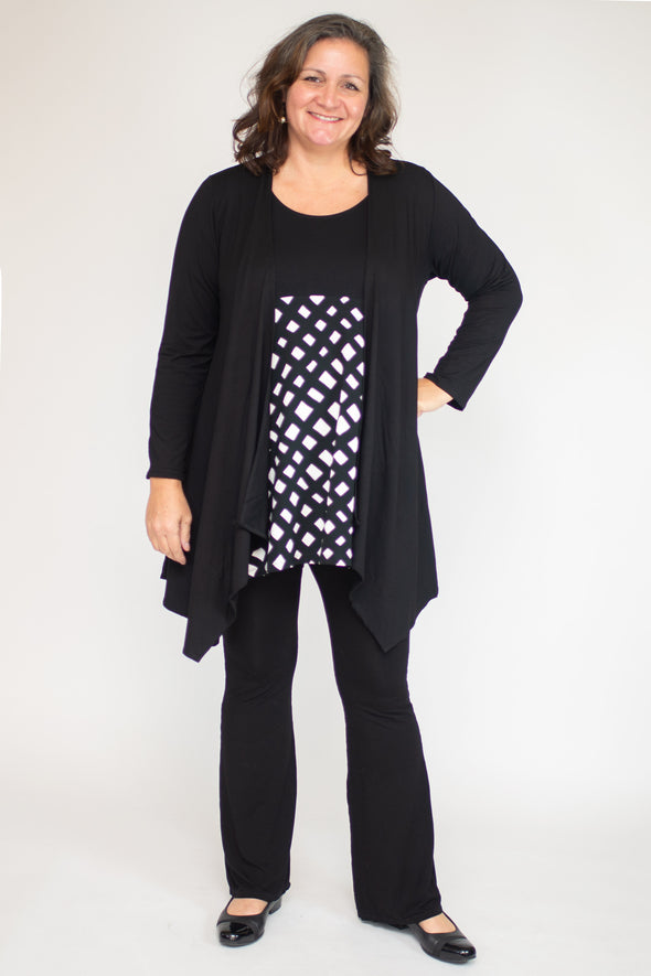 Marlena Top /  Noir lattice