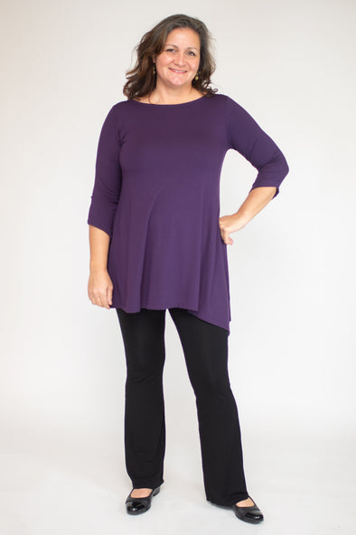 Lauren Tunic / Solid Plum