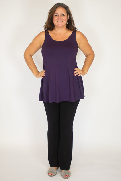 Audrey Top / Solid Plum