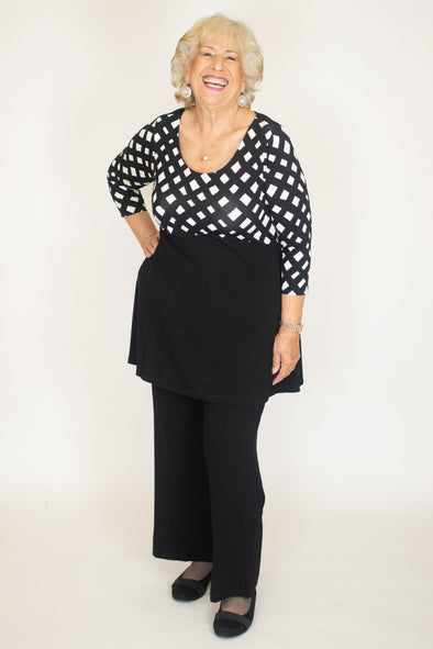 Marlena Top / Lattice Noir
