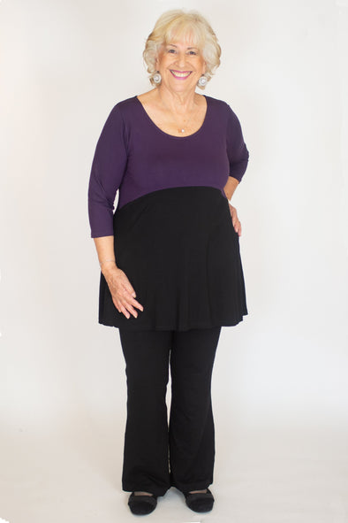 Marlena Top / Solid Plum