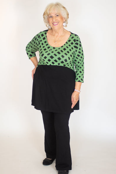 Marlena Top / Lattice Olive