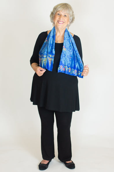 Isadora Silk Scarf / Don't Worry