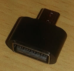 Adapter Micro-USB Male till USB 2.0 Female, svart