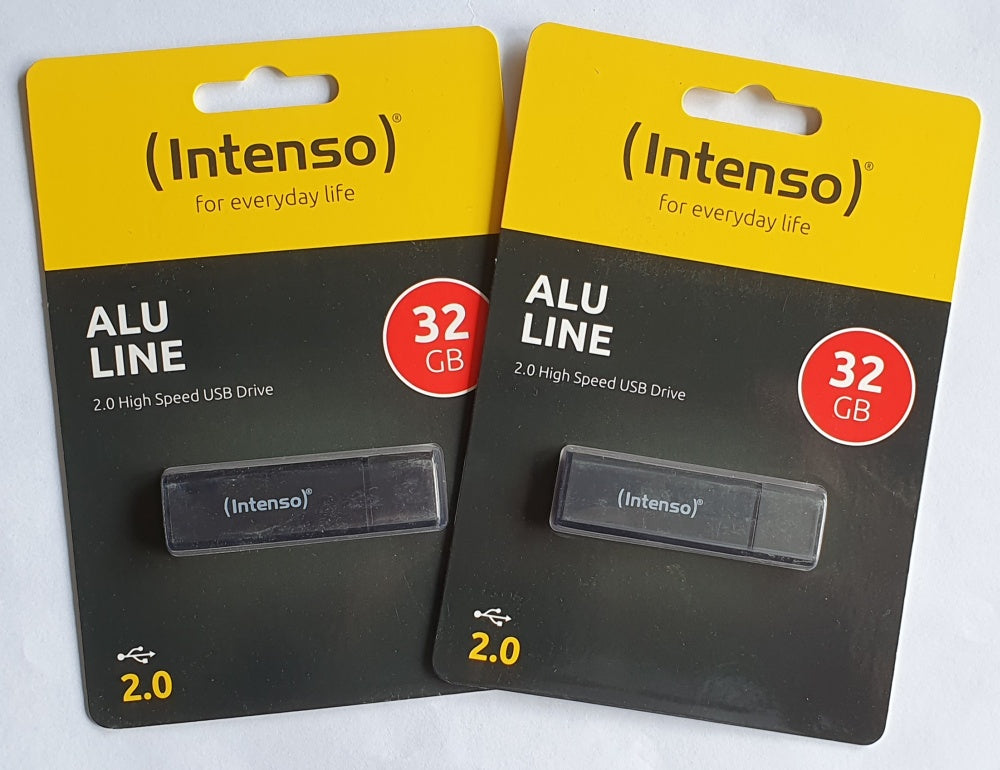 2 st Intenso 32Gb USB-minne ALU LINE USB 2.0 antracit