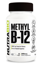 Load image into Gallery viewer, Methyl B-12 (2000mcg) 90 Vegetable Capsules