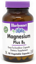 Load image into Gallery viewer, Magnesium Plus B-6 Vegetarian Capsules, 90 Count BlueBonnet