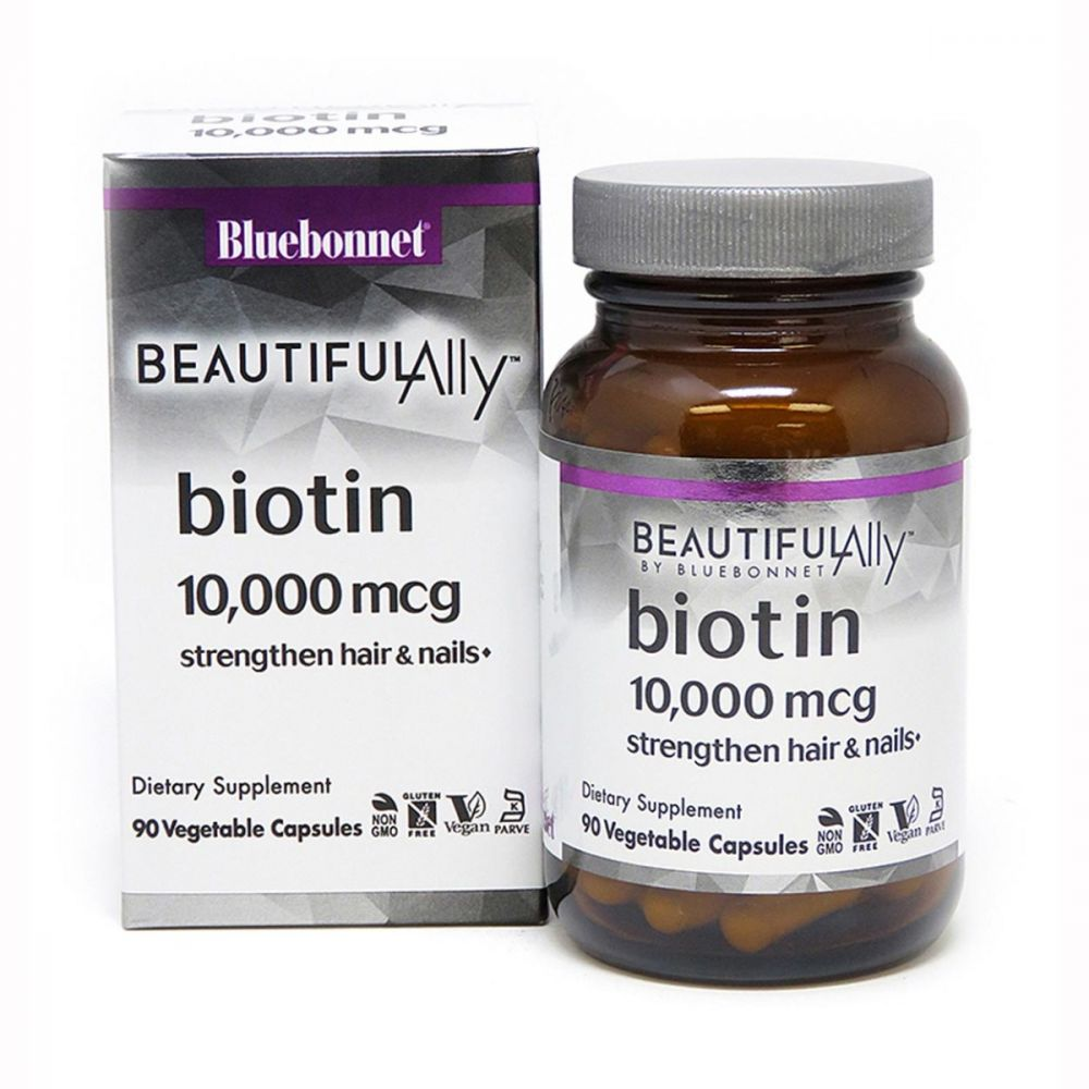 Bluebonnet Beautiful Ally Biotin 10000mcg 90 vcaps
