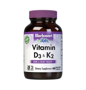 Bluebonnet Kosher Vitamin D3 And K2 - 60 Capsules