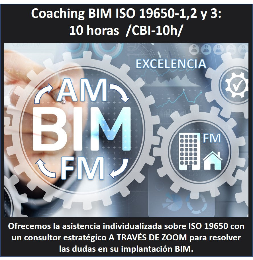 Coaching BIM sobre ISO 19650 1:1. 10 horas