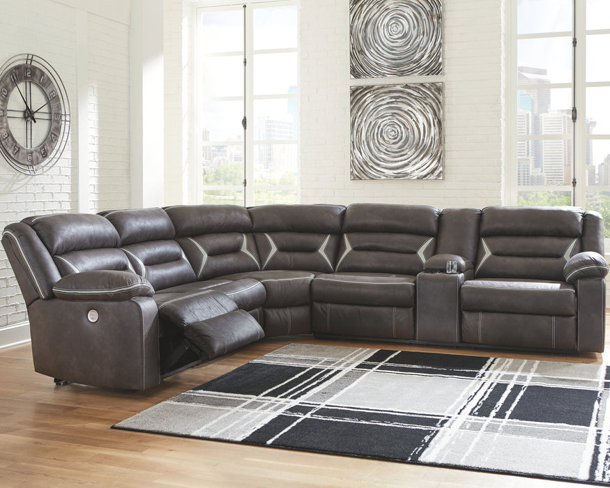 Kincord Signature Design by Ashley 4-Piece Power Reclining Sectional image