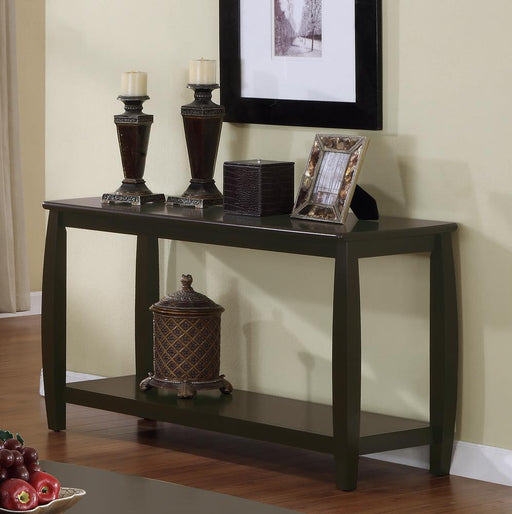 Wood Top Espresso Sofa Table image