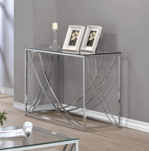 G720498 Contemporary Chrome Sofa Table image