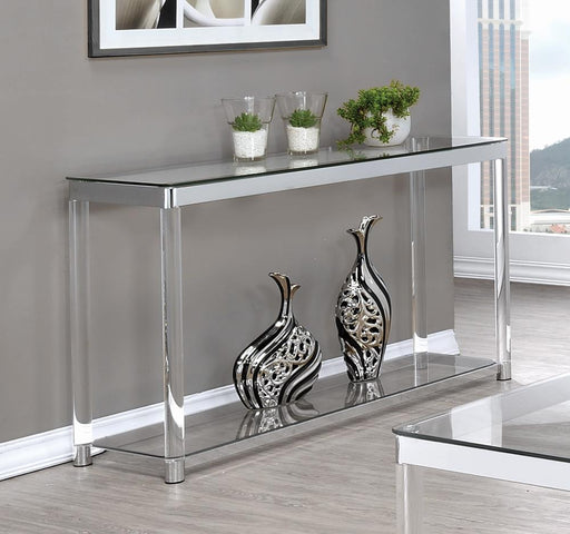 G720748 Contemporary Chrome Sofa Table image
