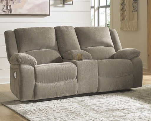 Draycoll Signature Design by Ashley DBL REC PWR Loveseat wConsole image