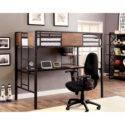 CLAPTON Black Twin Bed w/ Workstation image