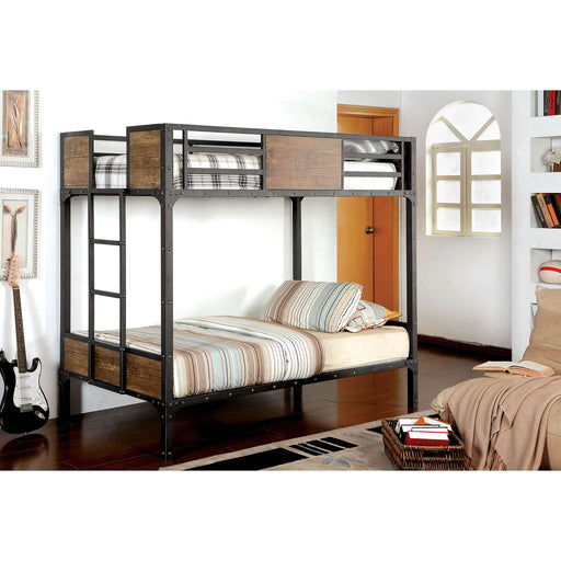 CLAPTON Black Twin/Twin Bunk Bed image