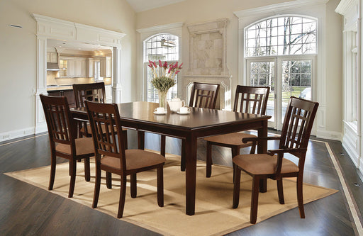 Central Park I Dark Cherry 7 Pc. Dining Table Set (2AC+4SC) image