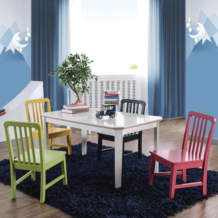 Casey White 5 Pc. Kids Table Set image