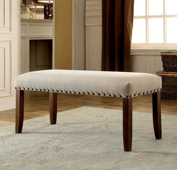 BRENTFORD Ivory Fabric Bench image