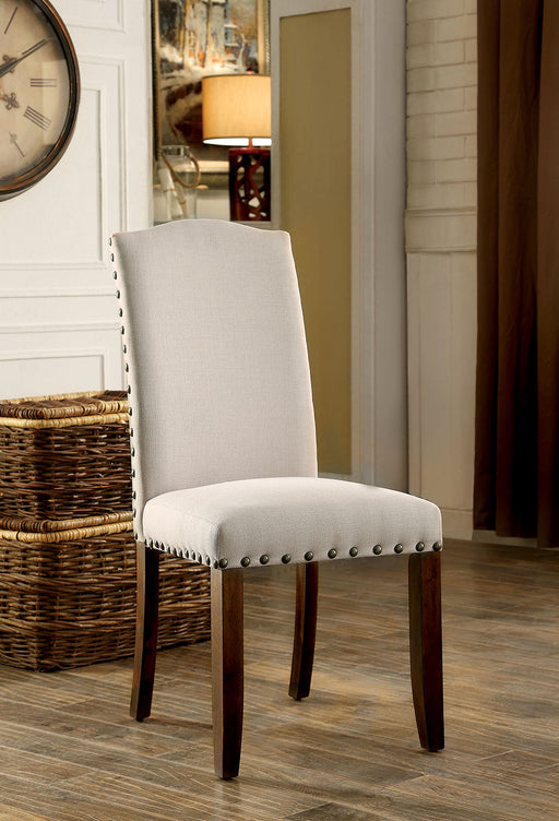 BRENTFORD Espresso/Beige Side Chair w/ (2/CTN) image