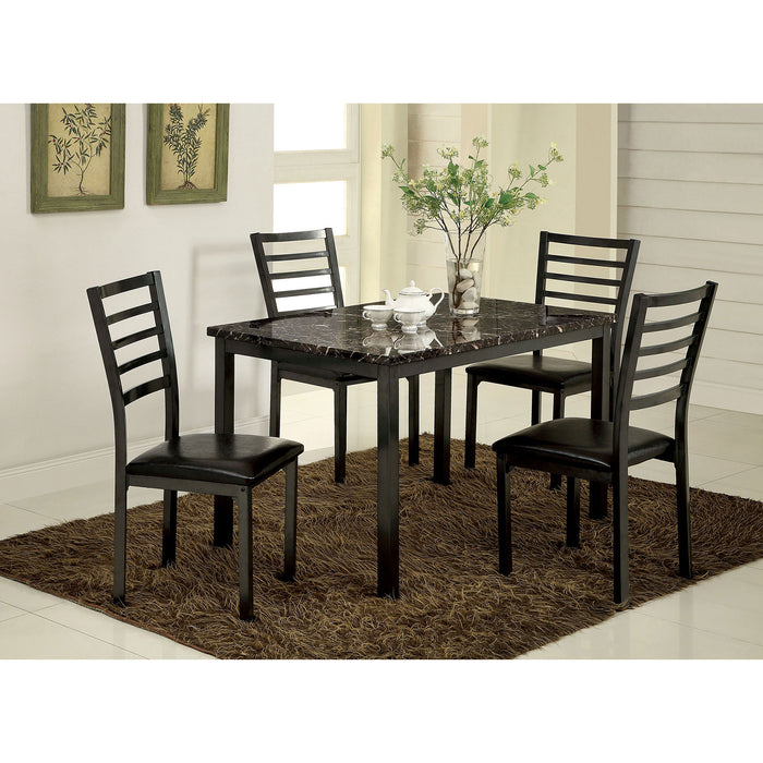 "COLMAN Black 5 Pc. Dining Set (48""T+4 K/D SC) image"