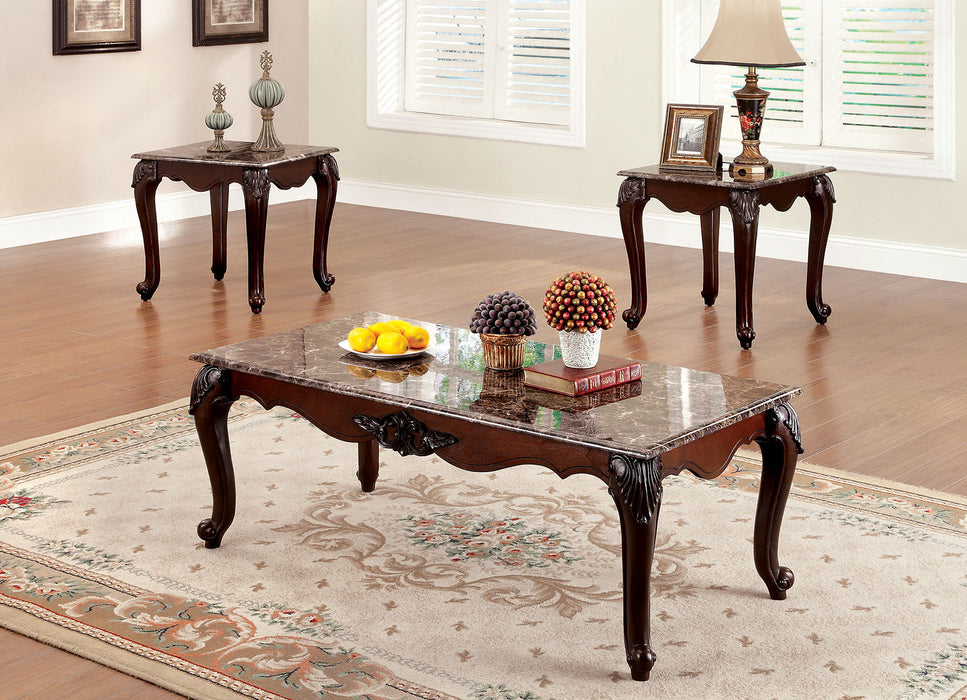 Colchester Dark Cherry 3 Pc. Coffee Table Set image