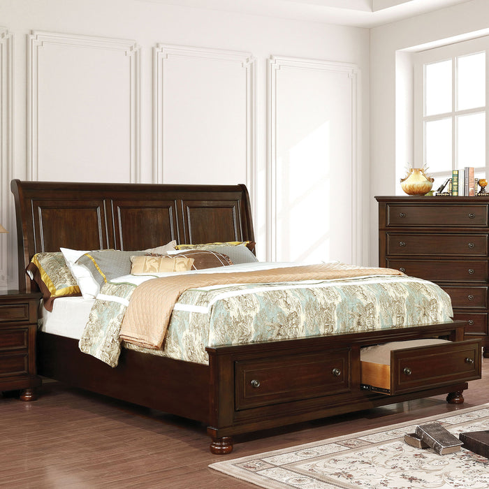 Castor Brown Cherry E.King Bed image