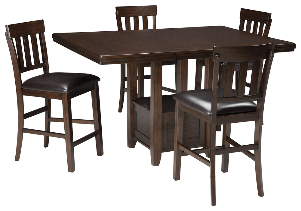 Haddigan Signature Design Counter Height 5-Piece Dining Room Set image