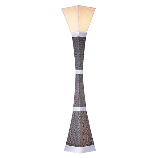 Pandora Dark Wood/Black/Chrome Torchiere Lamp image