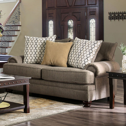 Augustina Light Brown Love Seat image