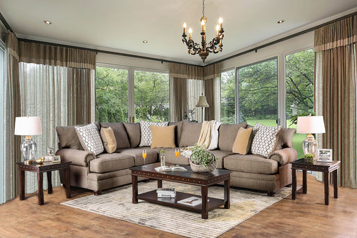 Augustina Light Brown Sectional image
