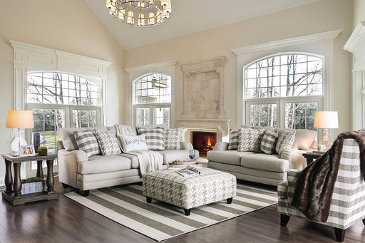 Christine Light Gray Sofa + Love Seat image