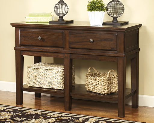 Gately Signature Design by Ashley Sofa Table image